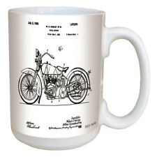 Harley Davidson Patent Mug. Large 15 oz Coffee Mug w/ Comfortable Handle.