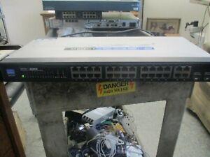 "Linksys Model"" SRW224G4 V1.1.  24-Port 10/100 + 4-Port Gigabit Switch  <"