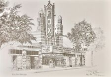 "Fox Theater Atlanta GA Glen Miller Story Signed Art 11""x16"" Huey Theus Framed"