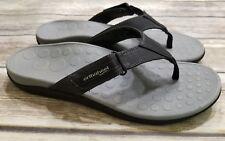 b8d2b6f56324 Orthaheel Ryder Black Adjustable Flip Flop Sandals Mens Shoes Size 10 EU 43