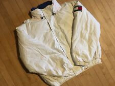 Vintage White Tommy Hilfiger Down Winter Coat Sz Large Jacket