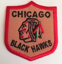 """Chicago Blackhawks Vintage Embroidered Iron On Patch Awesome  Patch 3"""" x 2.5 NHL"""
