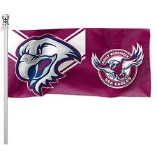 122351 MANLY SEA EAGLES NRL POLE FLAG 180CM X 90CM TEAM LOGO