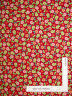 Christmas Peppermint Button Flowers Red Cotton Fabric QT Mary Engelbreit - Yard