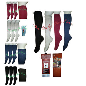 3x Mens Long Knee Socks High Lamb Wool Plain Warm Winter Ski Thick Size 6-11