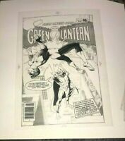 Green Lantern Classic 70's Cover Production Art Transparency