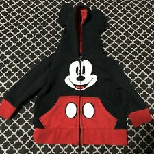 Disney Mickey Mouse Hoodie with Ears Jacket Infants 9-12 Months Full Zip