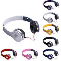 Kabelgebundener Kopfhörer 3,5 mm faltbares Stereo-Headset ohne Mikrofon für PC