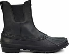 Ugg Australia Romosa Waterproof Black Leather Rubber Duck Boots -New