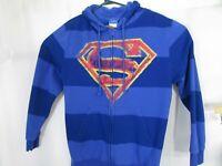 Superman Men's Zip Hoodie Size Large
