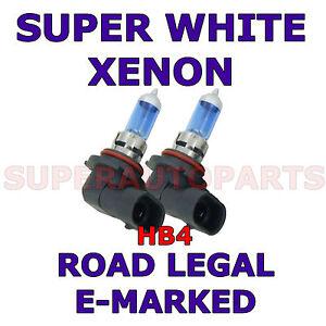 FITS MITSUBISHI L200 2005-2006 SET HB4 SUPER WHITE halogen XENON LIGHT BULBS
