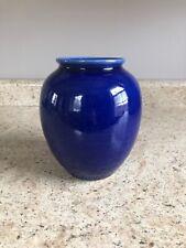 Bruning Art Pottery Blue Stoneware Vase Seattle, Washington