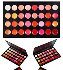 NEW 32 Colours Shimmer/Matte Lip Gloss/Cream Blush Palette Pink/Red/Orange/Brown