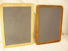 "2 Raco Individual Personal Chalkboard Wooden Frame Chalk Board Rustic 8.5"" x 11"""
