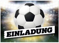 16 Einladungskarten Kindergeburtstag Fussball Einladung Für Jungen Mit Ball