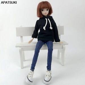 """Fashion Handmade Hoodie For 11.5"""" 1/6 Doll Sweatshirt Outfits Doll Clothes Shoes"""