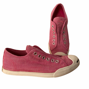Jack Purcell Converse No Lace Slip On Low Top Sneaker Shoes Size W 7.5 M 5