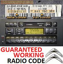 Citroen Blaupunkt+BOSCH Radio Code Unlock – Perfect Working Codes