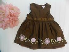 ecce745e2d1f H&M Baby Girls 12M Brown Iridescent Embroidered Floral Easter Dress 12  Months
