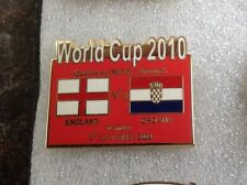 ENGLAND V CROATIA WORLD CUP 2010 QUALIFYING PIN BADGE VERY GOOD CONDITION