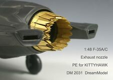 Dream Model 2031 1/48 F-35A/C Exhaust Nozzles Etching Parts for Kitty Hawk