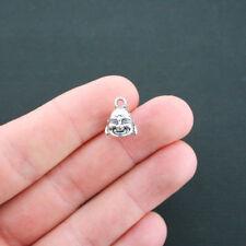 SALE 6 Buddha Charms Antique Silver Tone 3D Head - SC1600