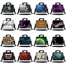 """13"""" 13.3"""" Neoprene Laptop Bag Case Sleeve w. Pocket Handle & Shoulder Strap"""