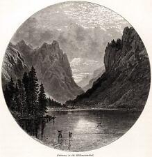 DOLOMITI DI SESTO. LAGO DI LANDRO.Dürrensee.Dobbiaco.Bolzano.+ Passepartout.1878