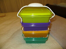 NEW Tupperware Bowl Containers Stackable Carolier green purple orange chartreuse