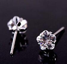 twinkling 9k white gold filled Clear CZ stud earrings,W1031