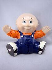 "Vintage 80s Cabbage Patch Kids Ceramic Boy 7.5""  Doll Figurine USA Signed"