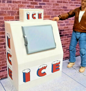 Ice Box Scale Model Prop Garage Doll House Diorama Accessory