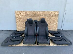 LEATHER/ALCANTARA/SUEDE SEAT SEATS SET FRONT REAR BLACK 10-16 AUDI A4 S4 3.0T