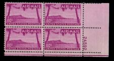 ALLY'S STAMPS US Plate Block Scott #C46 80c Hawaii [4] MNH F/VF OG LR