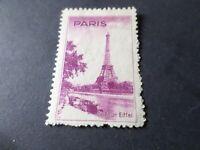 FRANCE, ERINNOPHILIE, VIGNETTE LA TOUR EIFFEL, PARIS, LOT B, neuf (*), no gum