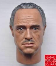 custom 1/6 Scale The Godfather Marlon Brando Head Sculpt