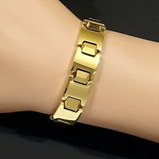 Magnetic Bio Power Tungsten Carbide CTS Arthritis Health 24K Gold Fill Bracelet