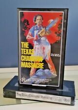 THE TEXAS CHAINSAW MASSACRE-RARE FACTORY SEALED rated R THE UNCUT  VHS/PAL