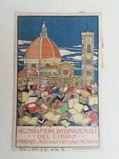 Cartolina Fiera internazionale del Libro 1925 Firenze Benedetti