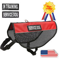 Dog Harness Best 2 Reflective Service Dog Patches and Sturdy Handle,Breathable