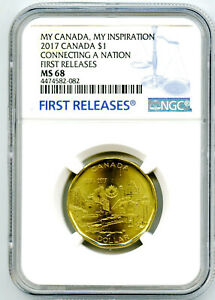 2017 CANADA LOONIE DOLLAR NGC MS68 LOON 150TH ANNIVERSARY TOP POP2 FIRST RELEASE