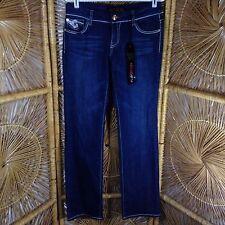 VO Jeans Women's Dark Wash Blue Jeans Virgin Only Deluxe RN 30157, Embellished