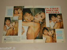 MICK JAGGER JERRY HALL clipping articolo fotografia 1983 AT9 ROLLING STONE