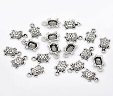 15 Tibetan Silver TORTUE/turtle Charm Pendentif fr08