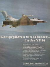 12/1974 PUB GENERAL DYNAMICS YF-16 US AIR FORCE FIGHTER ORIGINAL GERMAN AD