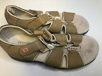 Footjoy Greenjoys Women's Golf Sandals Tan Pink Soft Spikes Strap 48453 Size 6