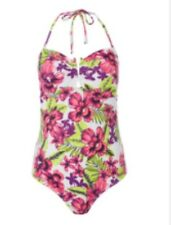 TU FLORAL PRINT BANDEAU SWIMMING COSTUME / SWIMSUIT SIZE 14 BNWT
