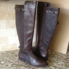 UGG Danae Lodge Brown Leather Equestrian Riding Knee High Boots Size US 7 Womens