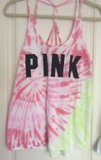 VICTORIA'S SECRET PINK Vest Top - Size M - BNWT - Tie Dye - Summer 18