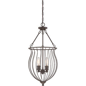 """Quoizel Baroness 30.25"""" Cage Chandelier Transitional Western Bronze BNS5204WT"""
